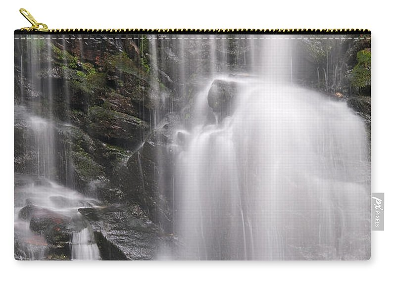 Soco Carry-all Pouch featuring the photograph Soco Falls North Carolina by Steve Gadomski