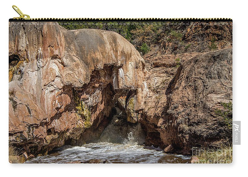 Soda Dam Carry-all Pouch featuring the photograph Soda Dam 2 by Stephen Whalen