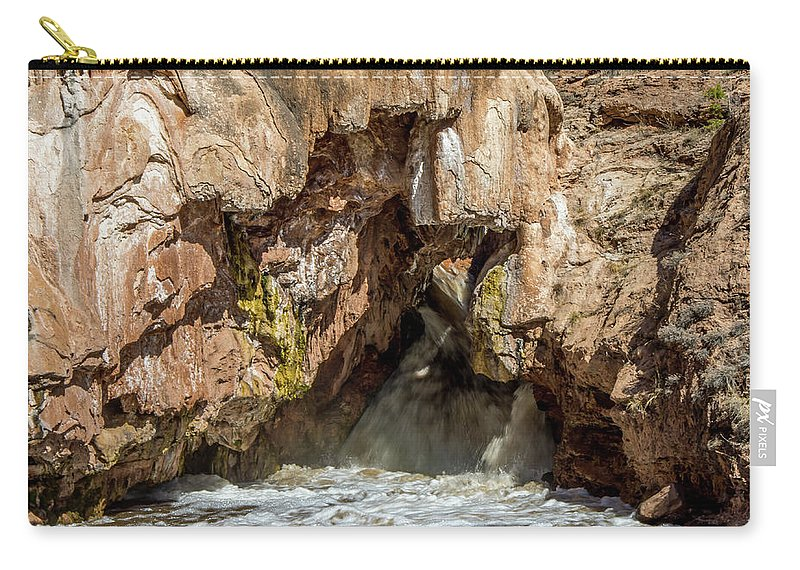 Soda Dam Carry-all Pouch featuring the photograph Soda Dam 3 by Stephen Whalen
