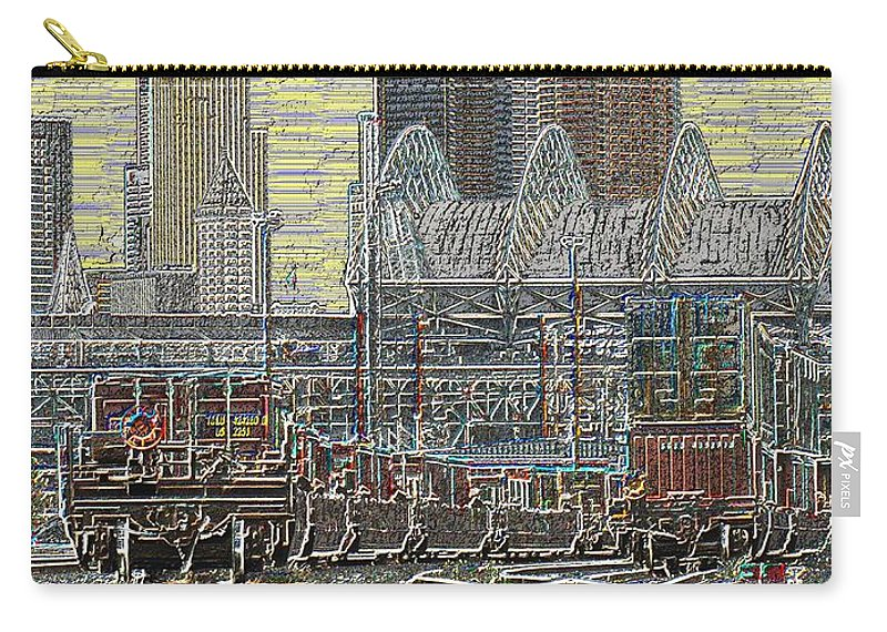 Abstract Carry-all Pouch featuring the digital art Sodo Tracks by Tim Allen