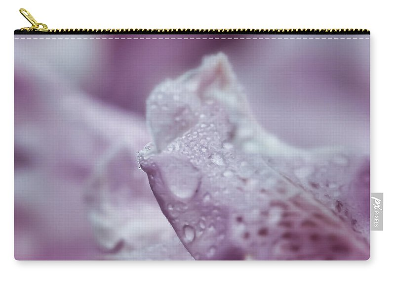 Rhododendron Petals Carry-all Pouch featuring the photograph Soft And Subtle by Kerri Farley
