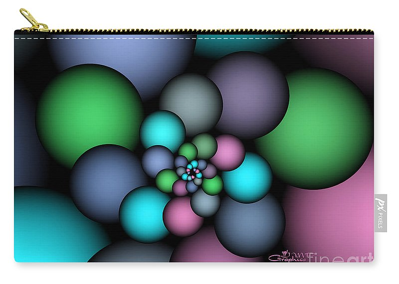 Fractal Carry-all Pouch featuring the digital art Soft Balloons by Jutta Maria Pusl