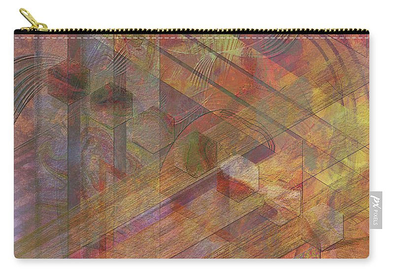Soft Fantasia Carry-all Pouch featuring the digital art Soft Fantasia by John Beck