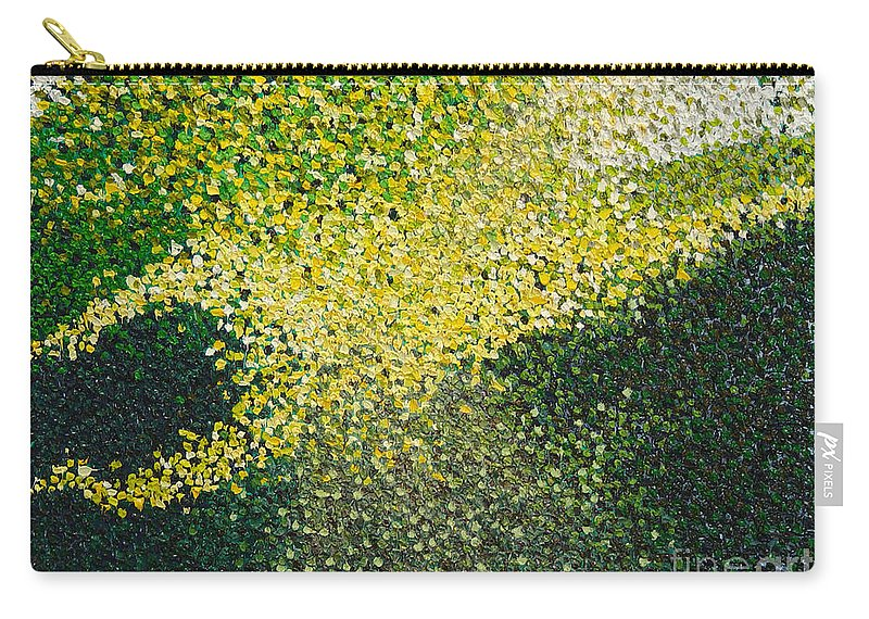 Abstract Carry-all Pouch featuring the painting Soft Green Light by Dean Triolo