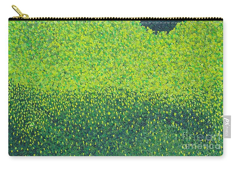 Abstract Carry-all Pouch featuring the painting Soft Green Wet Trees by Dean Triolo