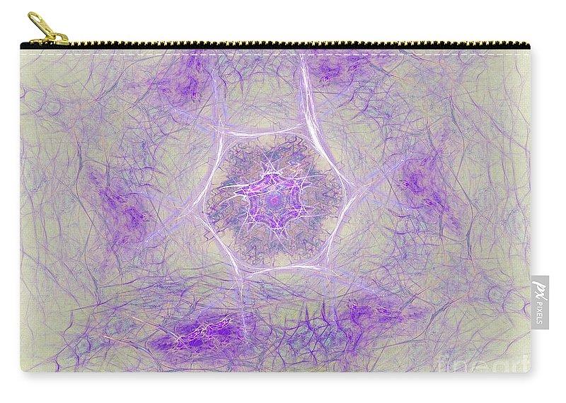 Carry-all Pouch featuring the digital art Soft Lavender by Deborah Benoit