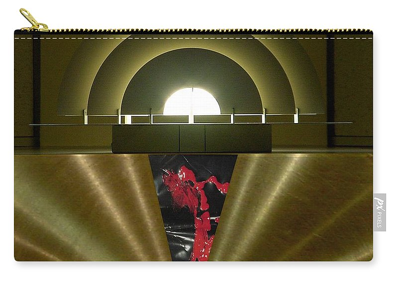 Digital Carry-all Pouch featuring the digital art Soft Light Hard Surface by Ron Bissett