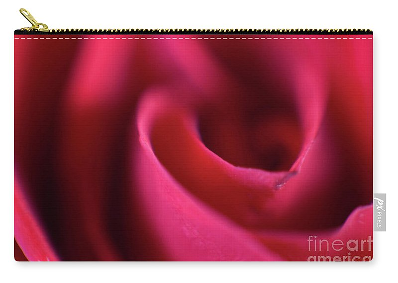 Abstract Carry-all Pouch featuring the photograph Soft Petals by Alan Look