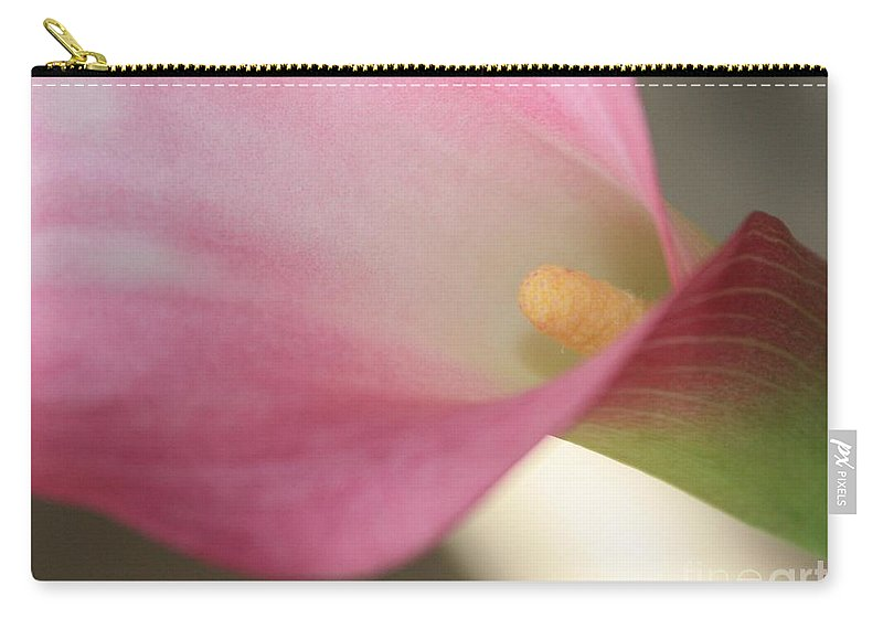 Pink Carry-all Pouch featuring the photograph Soft Pink Calla Lily by Carol Groenen