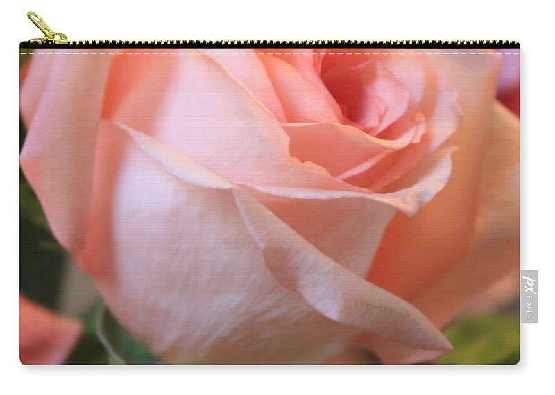 Pink Rose Carry-all Pouch featuring the photograph Soft Pink Rose by Carol Groenen