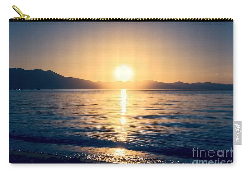 Soft Carry-all Pouch featuring the photograph Soft Sunset Lake by Joe Lach
