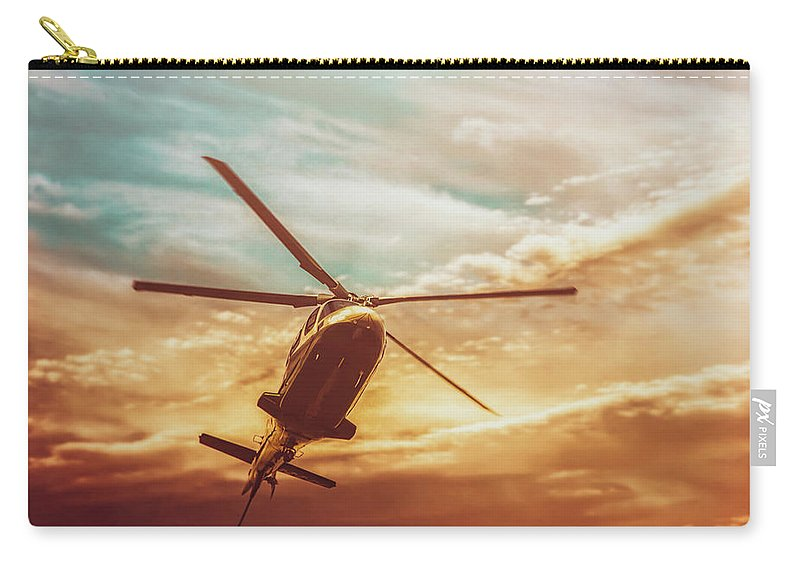 Photography Carry-all Pouch featuring the photograph Soft Sunset Landing by Bob Orsillo