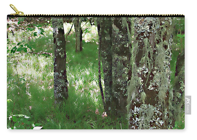Trees Forrest Green Photograph Photography Digital Summer Carry-all Pouch featuring the photograph Soft Trees by Shari Jardina