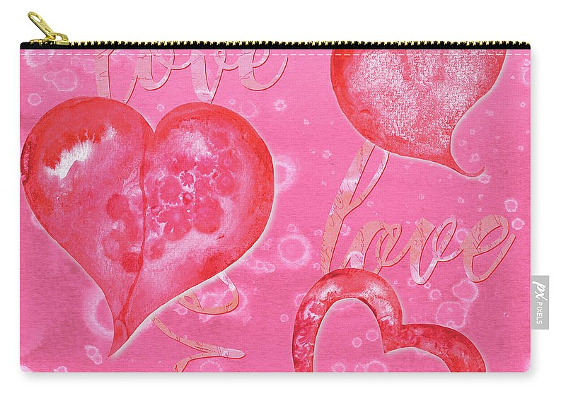 Valentine Carry-all Pouch featuring the painting Soft Valentine by Debbie DeWitt