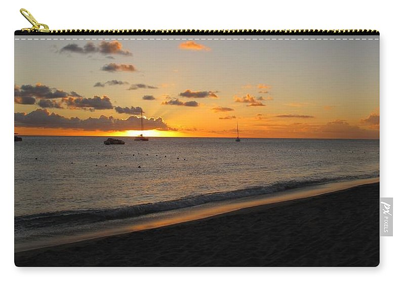 Sunset Carry-all Pouch featuring the photograph Soft Warm Quiet Sunset by Ian MacDonald