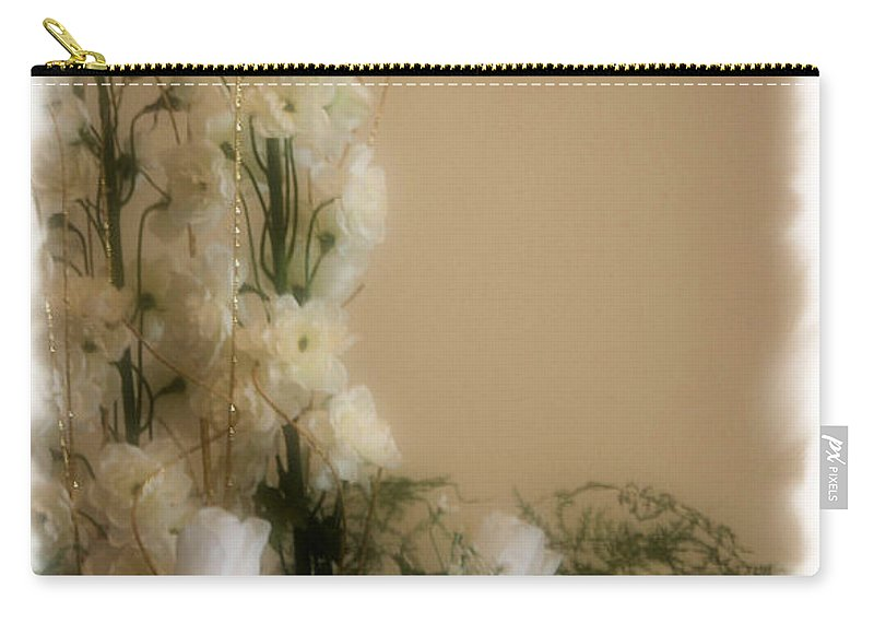 Roses Carry-all Pouch featuring the photograph Soft Whites by Kristin Elmquist