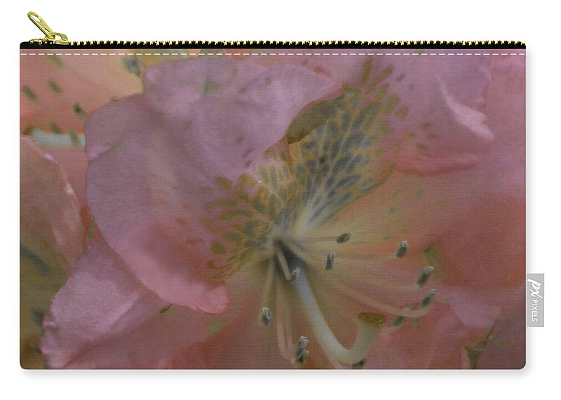 Azalea Carry-all Pouch featuring the photograph Softly Pink by Brenda Spittle