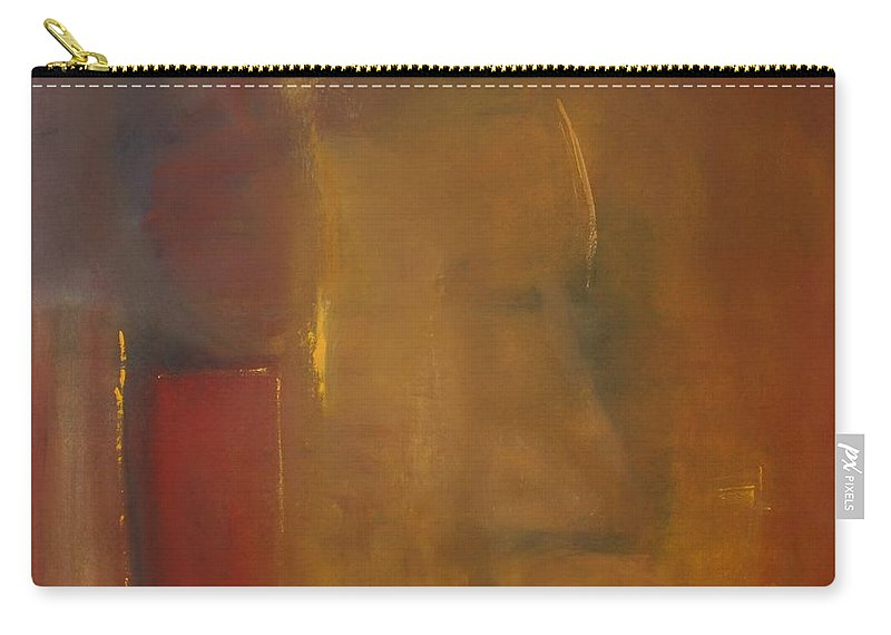 Carry-all Pouch featuring the painting Softly Reflecting by Jack Diamond