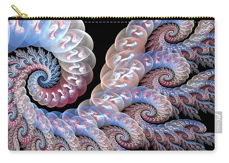 Fractal Art Carry-all Pouch featuring the digital art Softly Whispering by Amorina Ashton