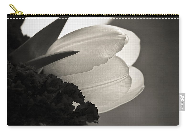 Floral Carry-all Pouch featuring the photograph Lit Tulip by Marilyn Hunt