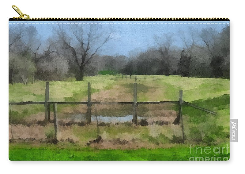 Corporate Carry-all Pouch featuring the photograph Soggy Texas Bayou by Paulette B Wright