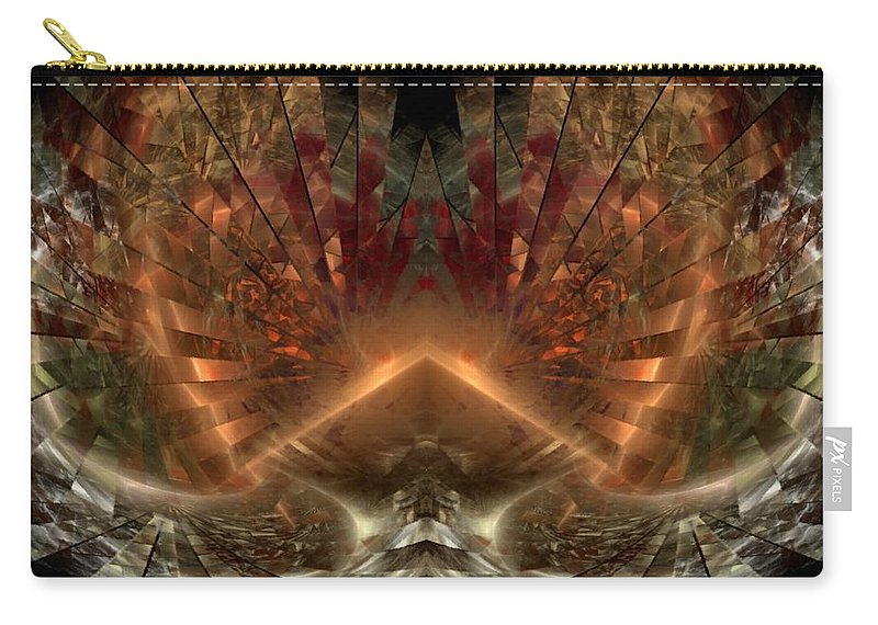 Sun Carry-all Pouch featuring the digital art Sol Invictus by NirvanaBlues