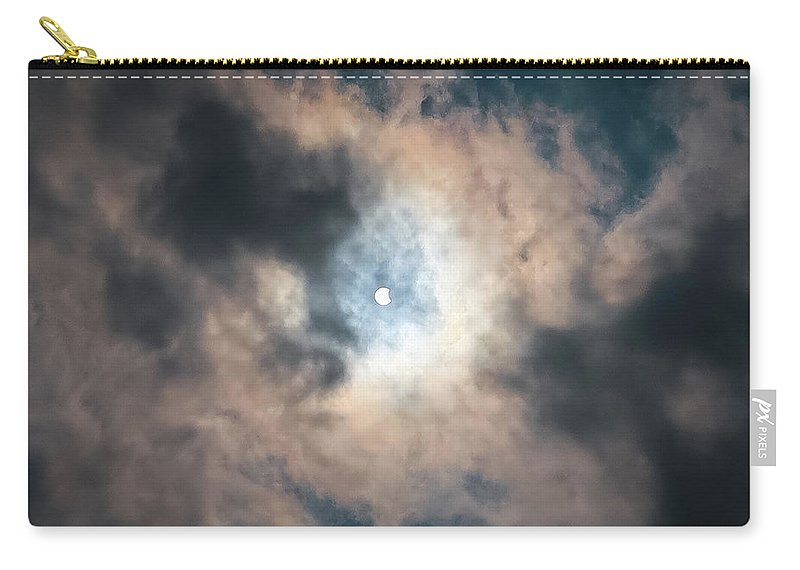 Solar Eclipse Carry-all Pouch featuring the photograph Solar Eclipse No Filter by Krystal Billett