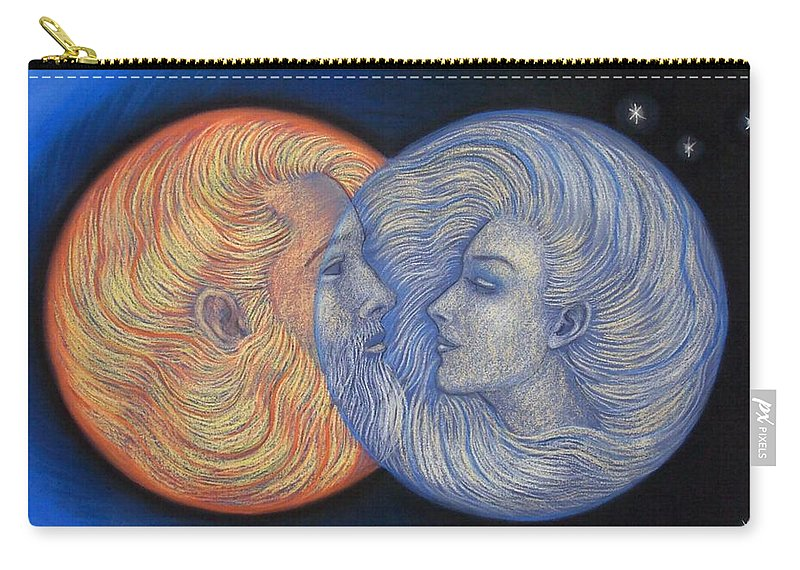 Solar Eclipse Carry-all Pouch featuring the painting Solar Eclipse by Sue Halstenberg