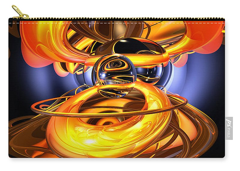3d Carry-all Pouch featuring the digital art Solar Flare Abstract by Alexander Butler