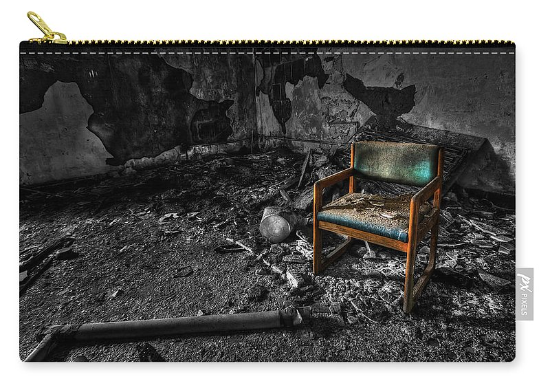 Chair Carry-all Pouch featuring the photograph Sole Survivor by Evelina Kremsdorf