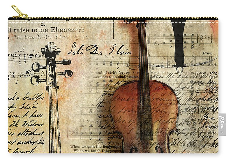 Cello Digital Art Carry-all Pouch featuring the digital art Soli Deo Gloria by Gary Bodnar