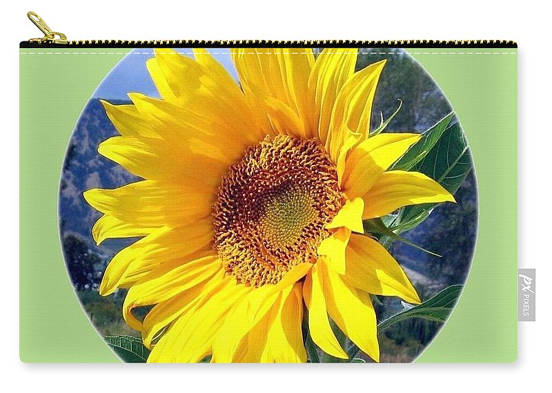 Sunflower Carry-all Pouch featuring the photograph Solid Sunshine by Will Borden