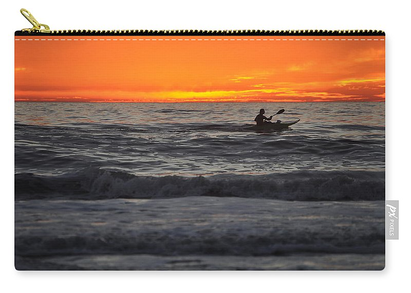 Kayak Carry-all Pouch featuring the photograph Solitude But Not Alone by Bridgette Gomes