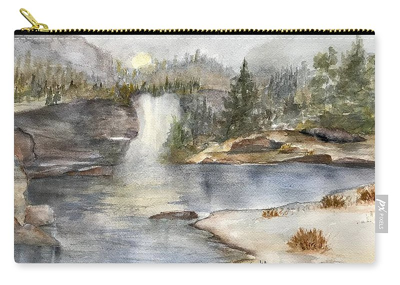 Lake Carry-all Pouch featuring the painting Solitude by Paintings by Florence - Florence Ferrandino