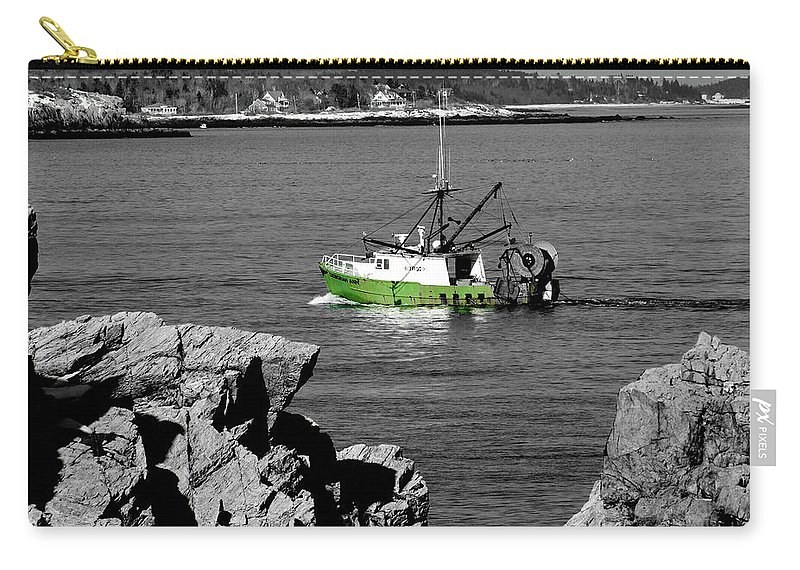 Coast Carry-all Pouch featuring the photograph Solitude by Greg Fortier