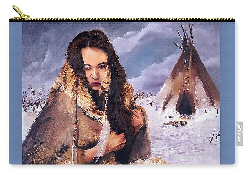 Southwest Art Carry-all Pouch featuring the painting Solitude by J W Baker