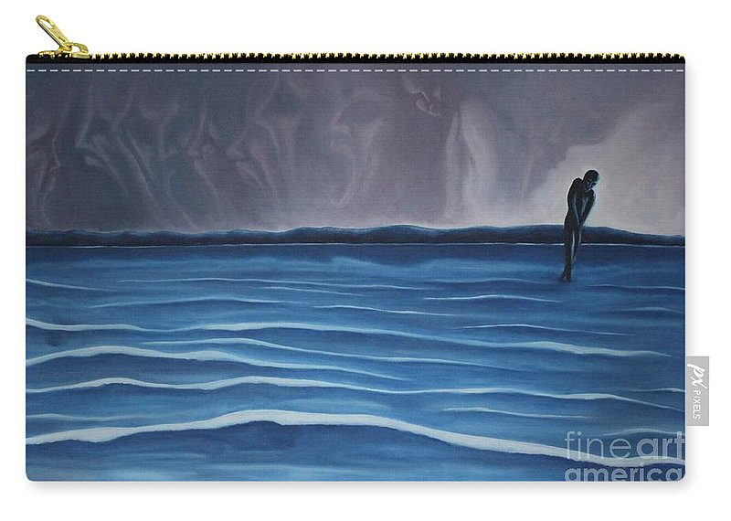 Tmad Carry-all Pouch featuring the painting Solitude by Michael TMAD Finney