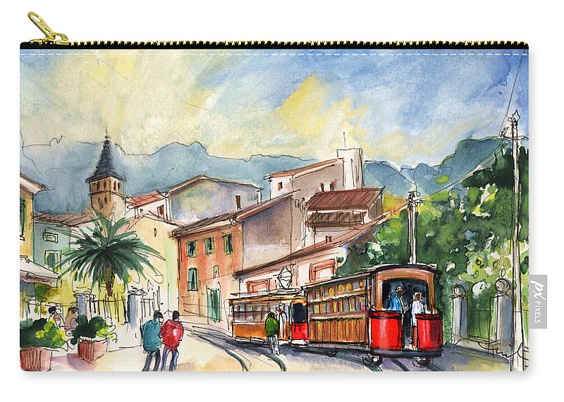 Travel Carry-all Pouch featuring the painting Soller In Majorca 01 by Miki De Goodaboom
