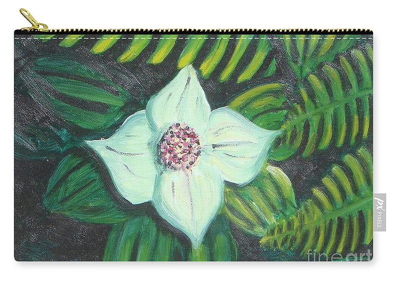 Flowers Carry-all Pouch featuring the painting Solo Performance by Laurie Morgan
