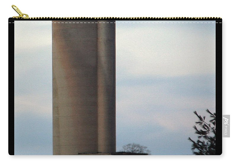 Silo Carry-all Pouch featuring the photograph Solo Silo by Tim Nyberg