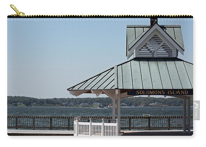 Solomons Carry-all Pouch featuring the photograph Solomons Island - Welcome by Ronald Reid
