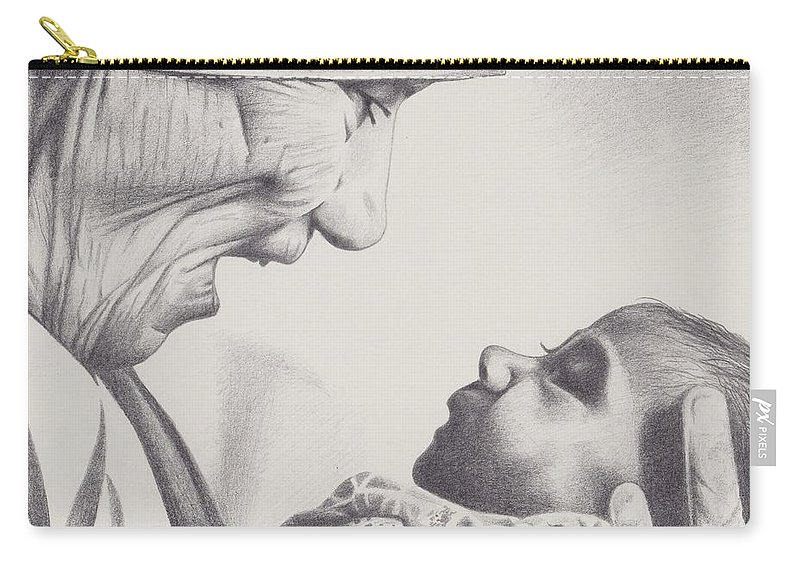 Mother Teresa Carry-all Pouch featuring the painting Someone To Love by Jamie Melton