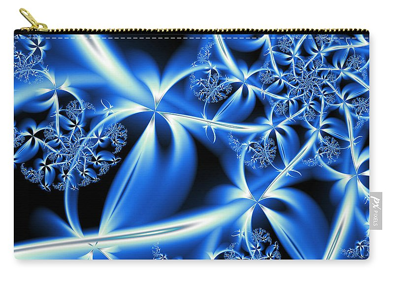 Art Carry-all Pouch featuring the digital art Something Blue by Candice Danielle Hughes