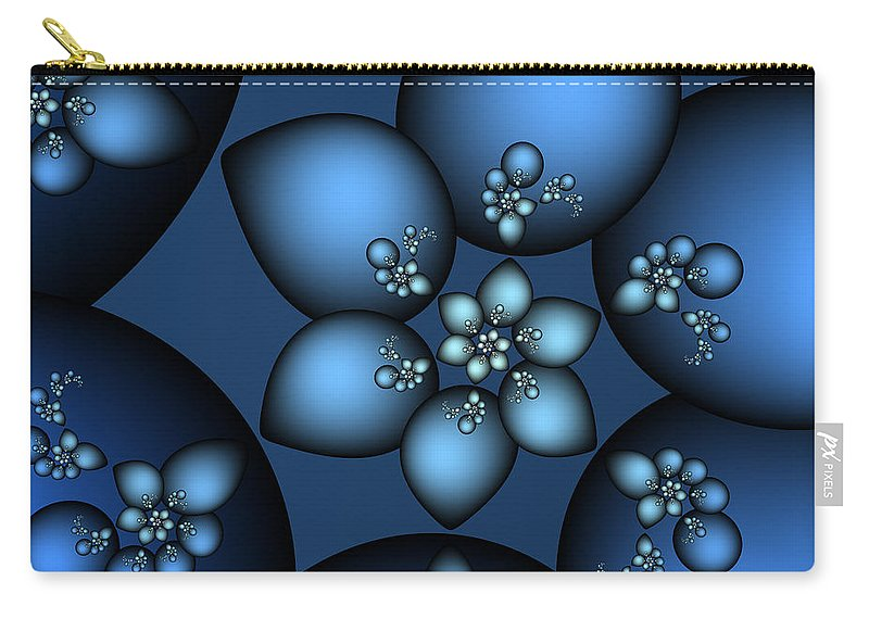 Fractal Carry-all Pouch featuring the digital art Something Blue by Jutta Maria Pusl