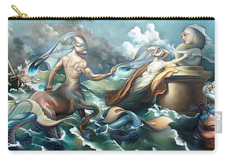 Marine Carry-all Pouch featuring the painting Something Fowl Afloat 2b by Patrick Anthony Pierson