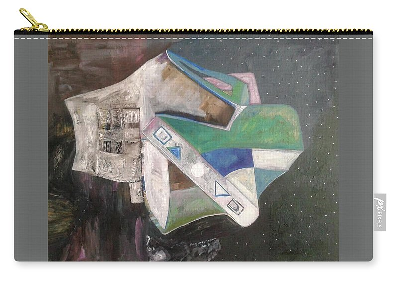 Carry-all Pouch featuring the painting Something From Outer Space by Nima Honarbakht