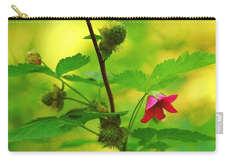 Flower Carry-all Pouch featuring the photograph Something Red by Mark Lemon