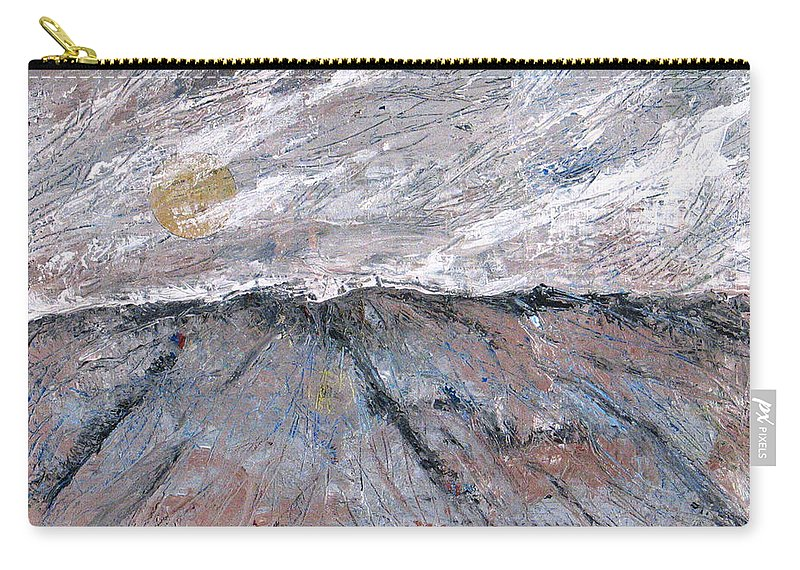Mountains Carry-all Pouch featuring the painting Somewhere Higher by Rollin Kocsis