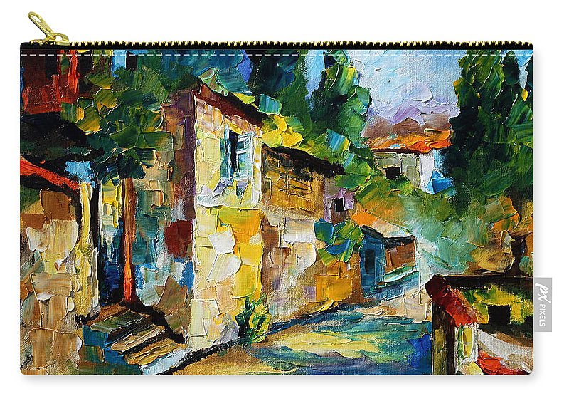City Carry-all Pouch featuring the painting somewhere in Israel by Leonid Afremov