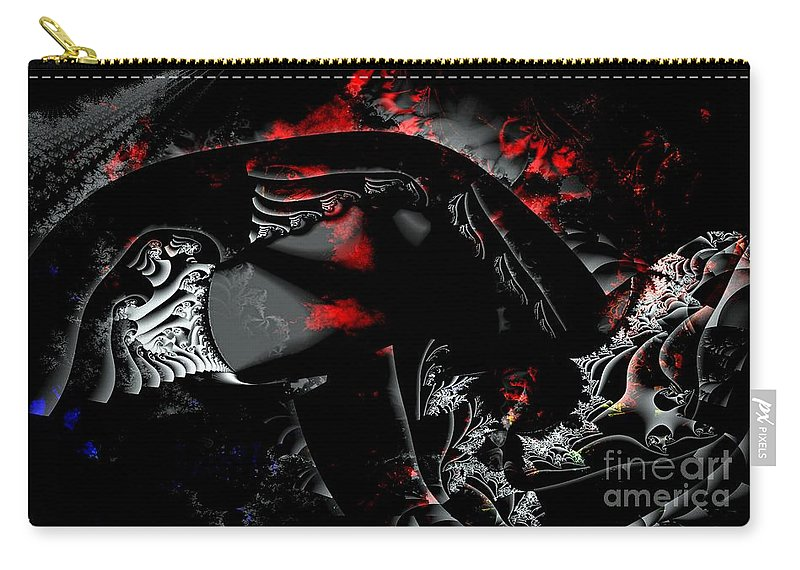 Nebula Carry-all Pouch featuring the digital art Somewhere In The Black Nebula by Ron Bissett